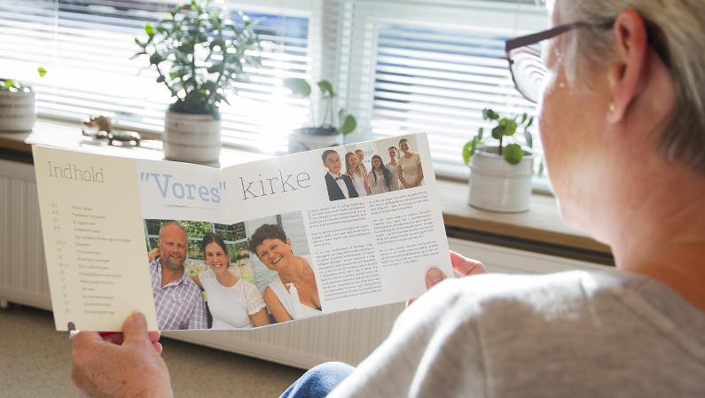 Læselækkert kirkeblad fra Ryslinge Valgmenighed