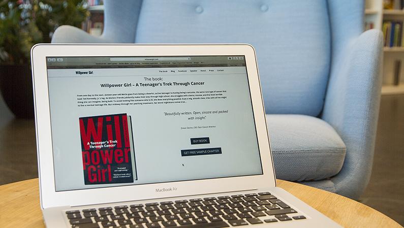 Web content og struktur på Willpower Girls hjemmeside
